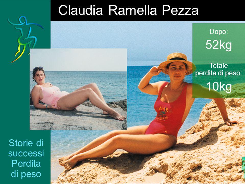 Storie di successi Perdita di peso Claudia Ramella Pezza Dopo: 52kg Totale perdita di peso: 10kg