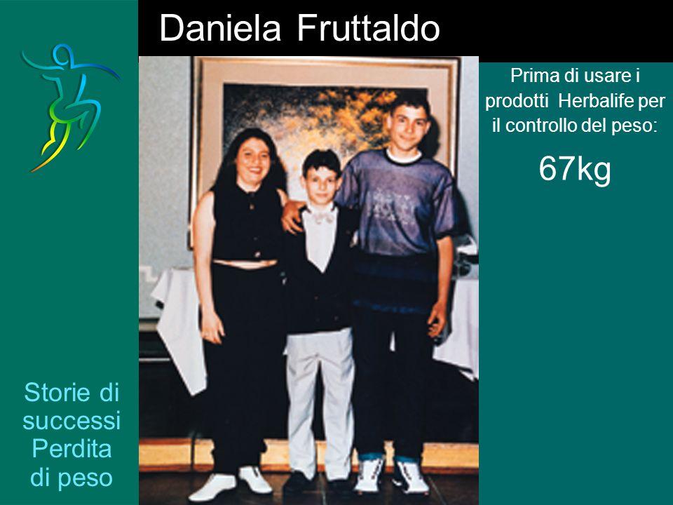 Storie di successi Perdita di peso Prima di usare i prodotti Herbalife per il controllo del peso: 67kg Daniela Fruttaldo