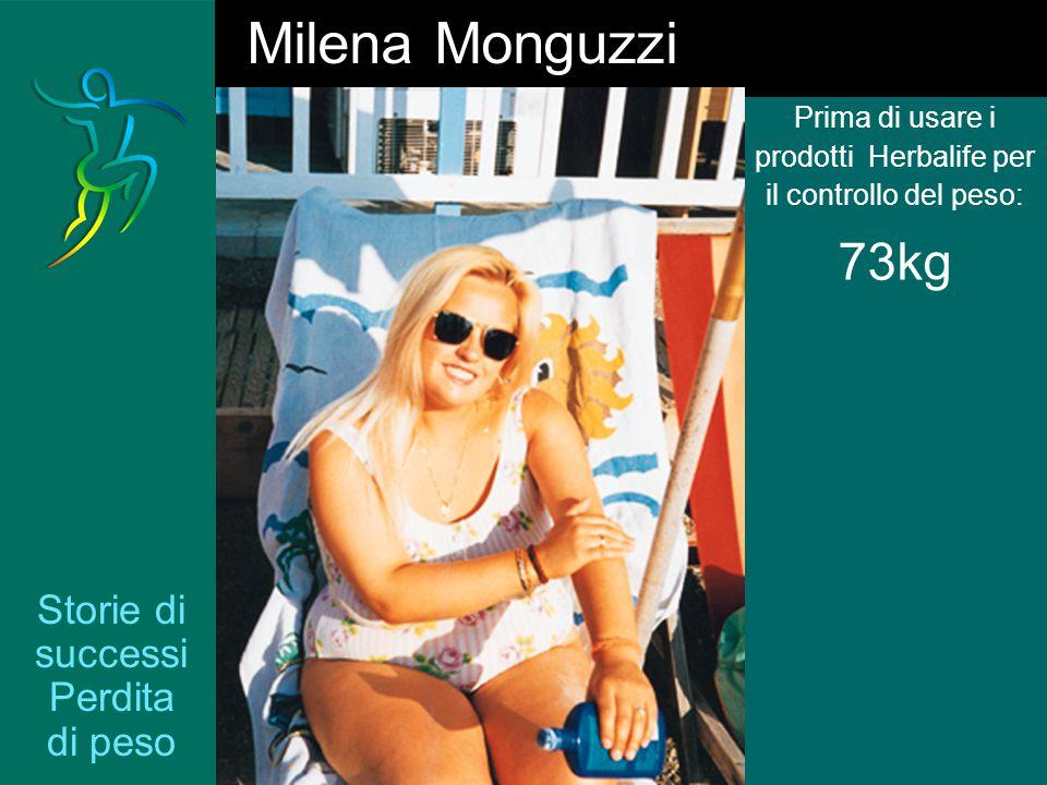 Storie di successi Perdita di peso Prima di usare i prodotti Herbalife per il controllo del peso: 73kg Milena Monguzzi
