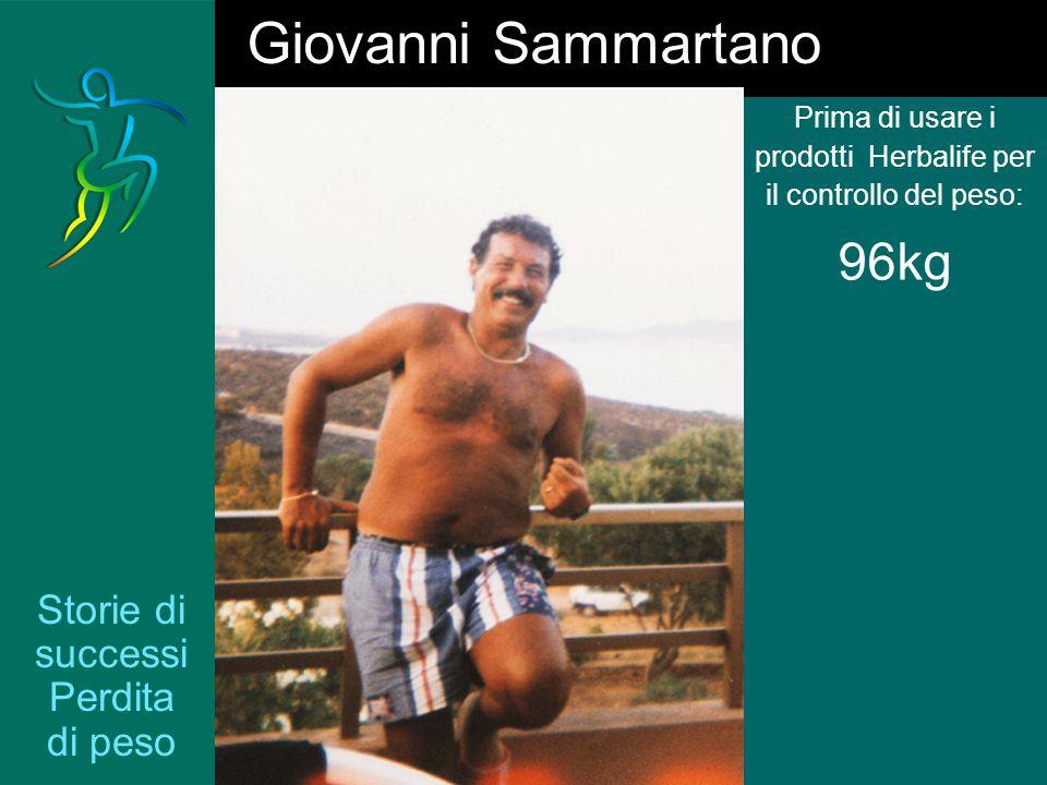 Storie di successi Perdita di peso Prima di usare i prodotti Herbalife per il controllo del peso: 96kg Giovanni Sammartano