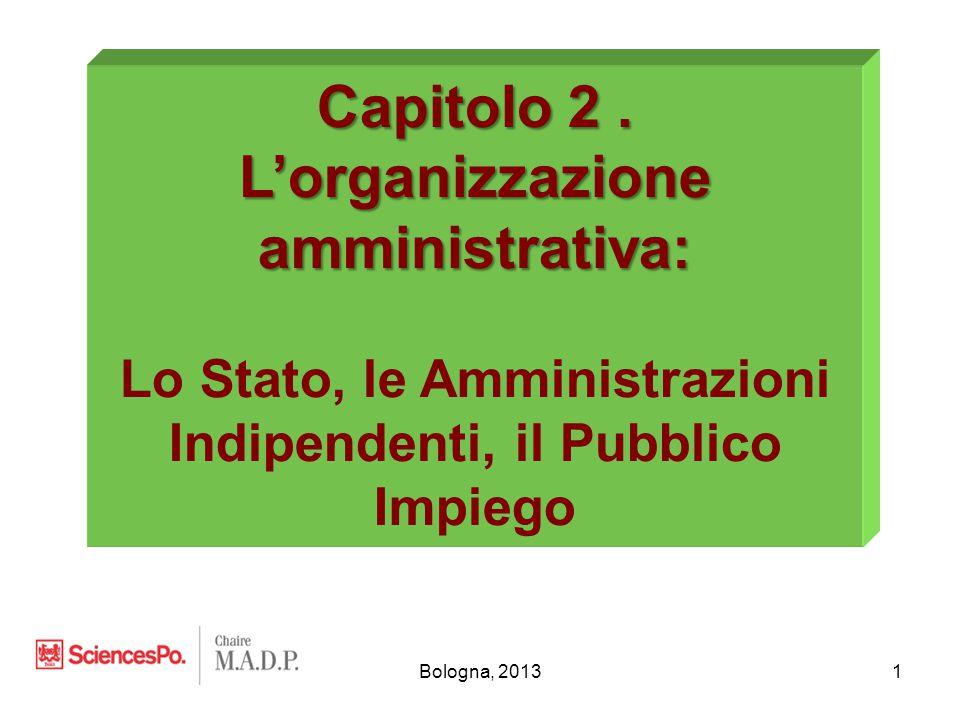 Bologna, 20132 I.Concetti fondamentali II.L'organizzazione dello Stato III.