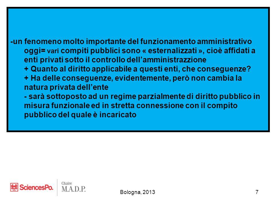 Bologna, 20138 II.L'organizzazione dello Stato 1°.
