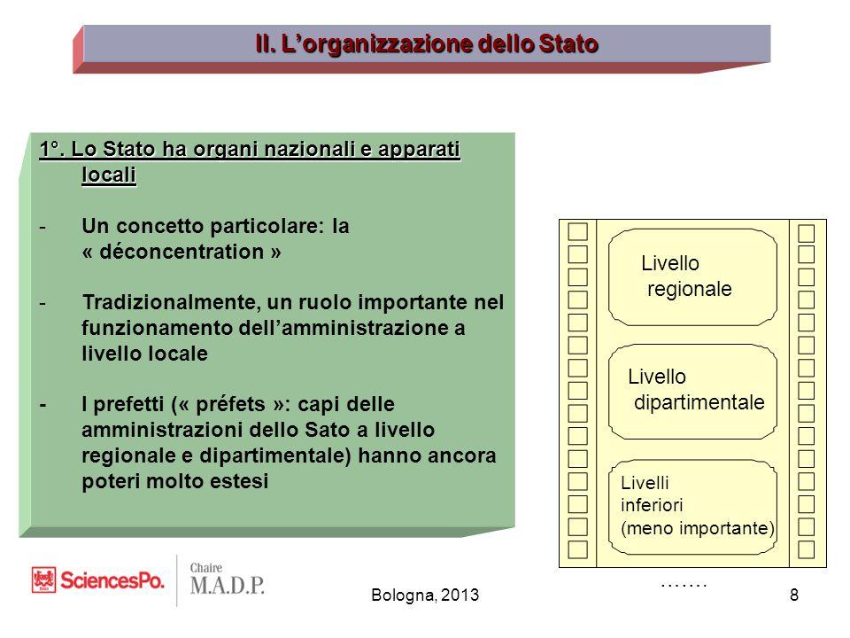 Bologna, 20138 II. L'organizzazione dello Stato 1°.