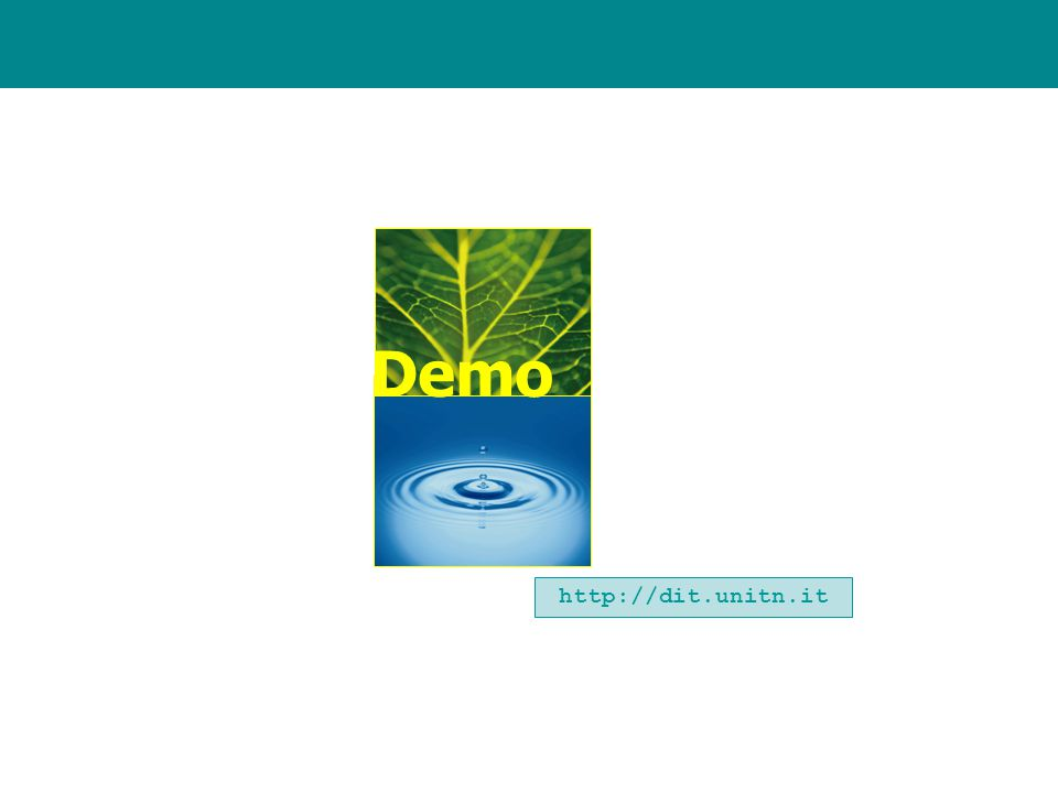 Demo http://dit.unitn.it