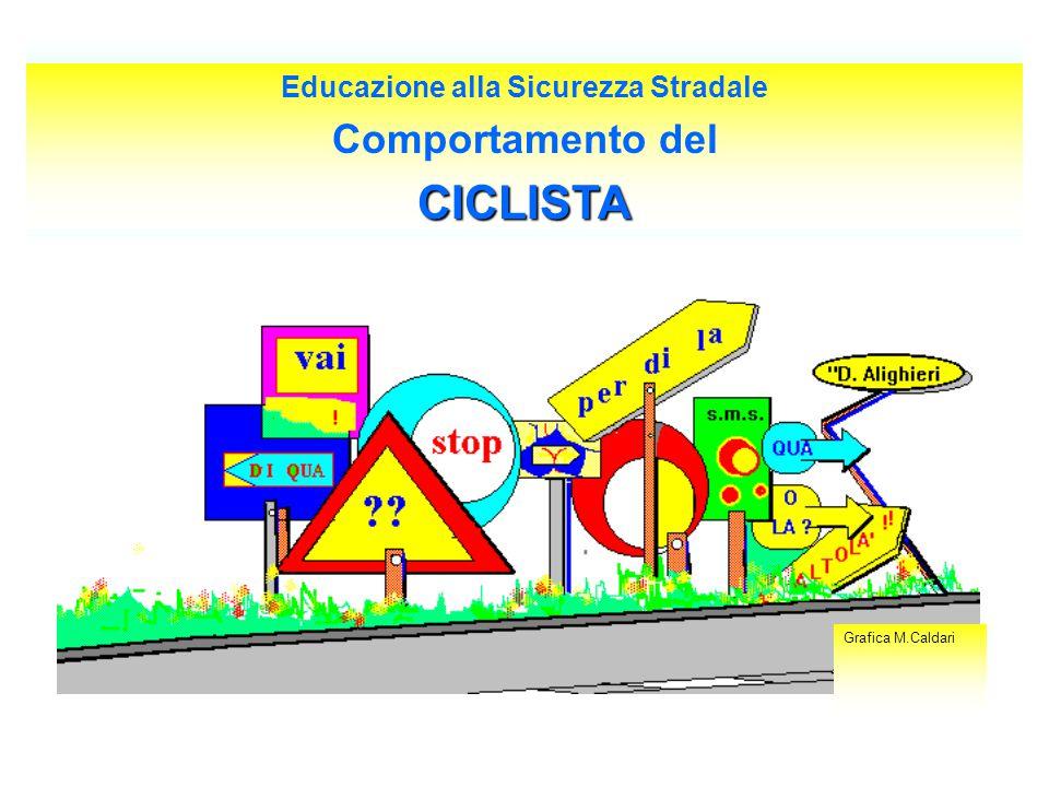 Educazione alla Sicurezza Stradale Comportamento delCICLISTA Grafica M.Caldari