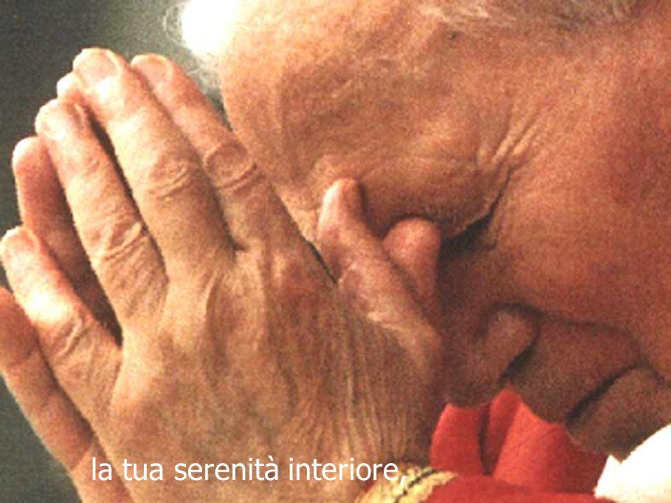 O Giovanni Paolo II, dammi la tua maturità.
