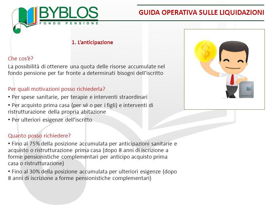 GUIDA OPERATIVA SULLE LIQUIDAZIONI 1.