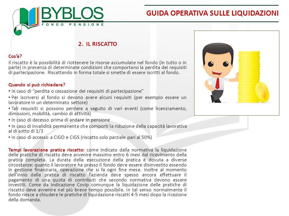 GUIDA OPERATIVA SULLE LIQUIDAZIONI 2.