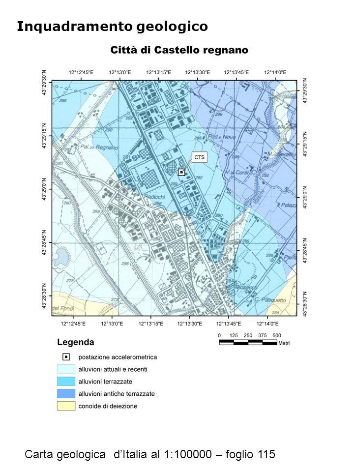 Inquadramento geologico Carta geologica d'Italia al 1:100000 – foglio 115