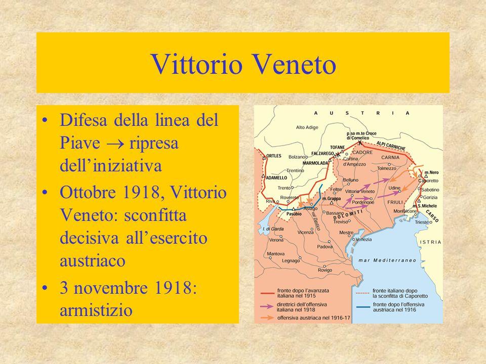Vittorio Veneto Difesa della linea del Piave  ripresa dell'iniziativa Ottobre 1918, Vittorio Veneto: sconfitta decisiva all'esercito austriaco 3 nove