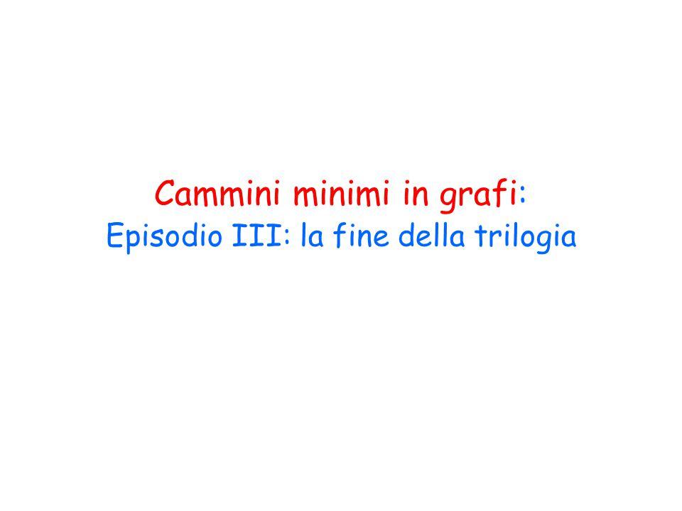 Cammini minimi in grafi: Episodio III: la fine della trilogia