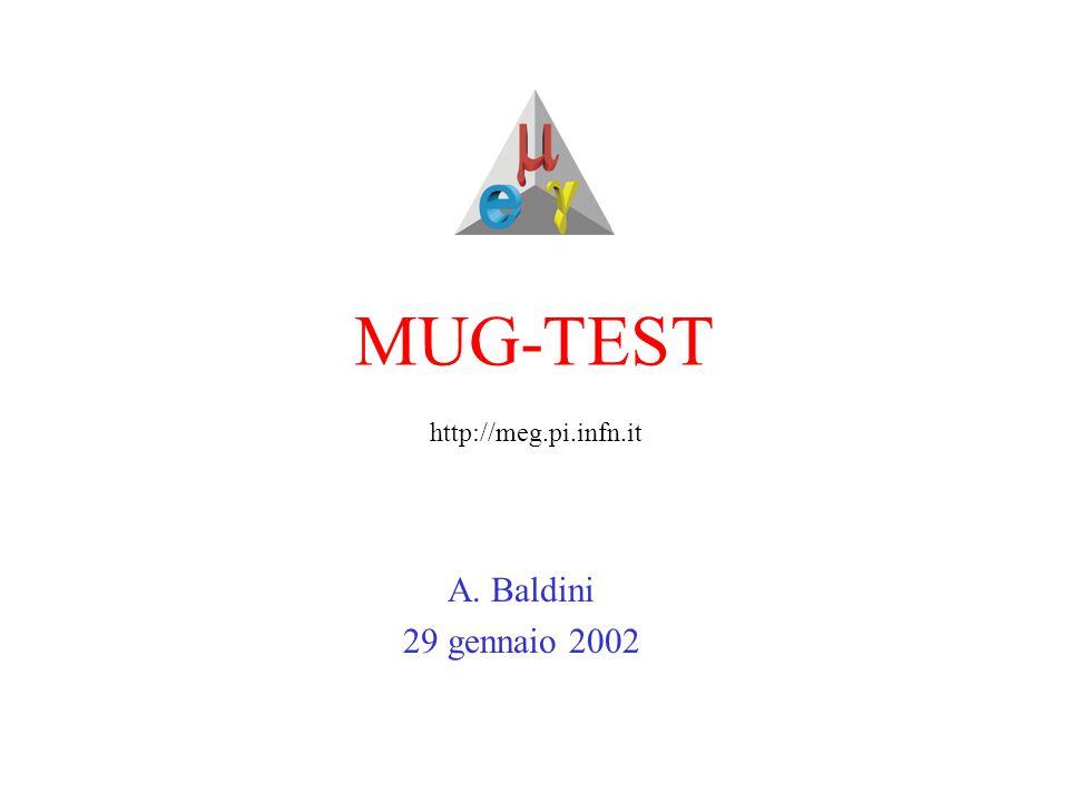 MUG-TEST A. Baldini 29 gennaio 2002 http://meg.pi.infn.it