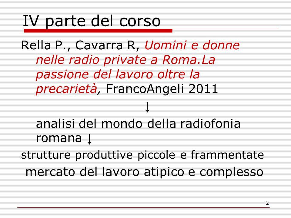 33 La struttura produttiva frammentata delle radio locali  Il panorama delle radio private nel Lazio si caratterizza per un'elevata polverizzazione.