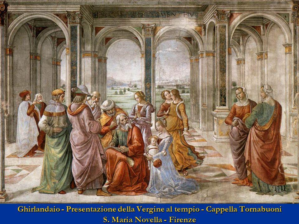 Ghirlandaio - Presentazione della Vergine al tempio - Cappella Tornabuoni S.