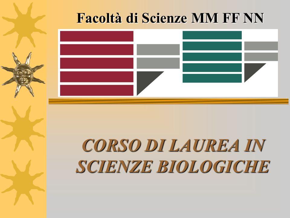 CORSO DI LAUREA IN SCIENZE BIOLOGICHE Facoltà di Scienze MM FF NN