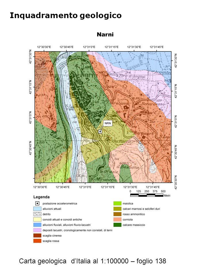 Inquadramento geologico Carta geologica d'Italia al 1:100000 – foglio 138