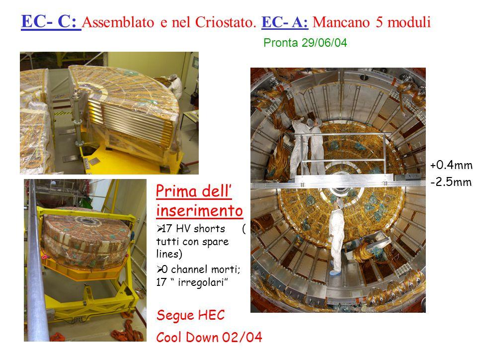 EC- C: Assemblato e nel Criostato.