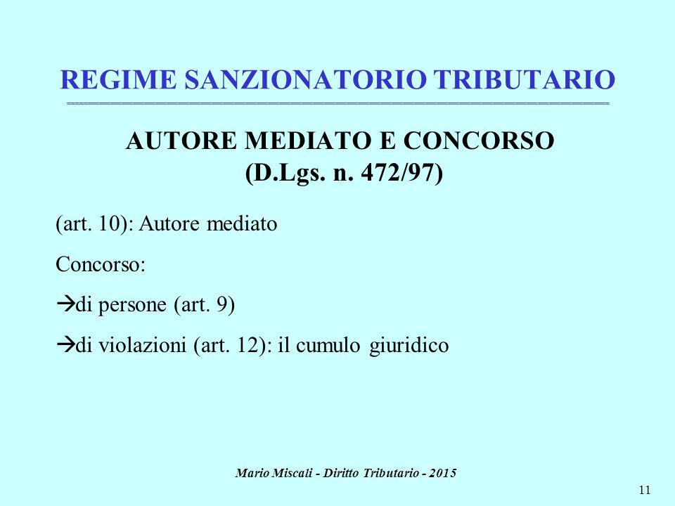 Mario Miscali - Diritto Tributario - 2015 11 _________________________________________________________________________________________________________