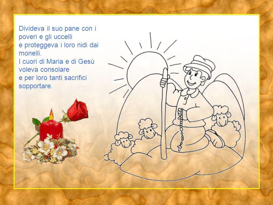 Come un fiore raccolto dallo stelo disse felice: Fra poco vado in cielo .