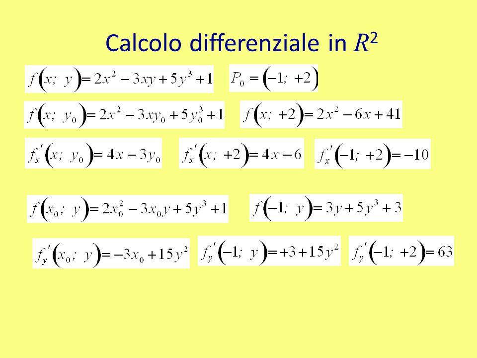 Calcolo differenziale in R 2