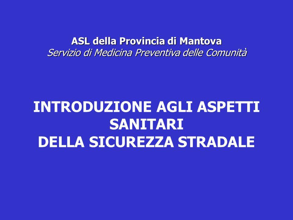 ASL della Provincia di Mantova Servizio di Medicina Preventiva delle Comunità INTRODUZIONE AGLI ASPETTI SANITARI DELLA SICUREZZA STRADALE