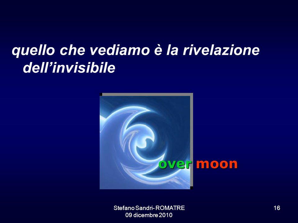 Stefano Sandri- ROMATRE 09 dicembre 2010 16 quello che vediamo è la rivelazione dell'invisibile over moon