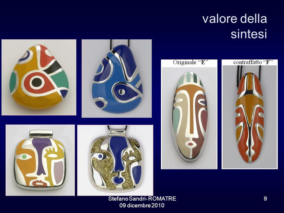 Stefano Sandri- ROMATRE 09 dicembre 2010 9 valore della sintesi