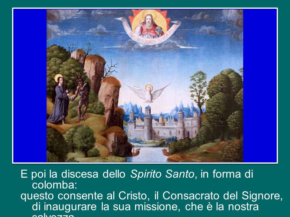 La voce del Padre proclama il mistero che si nasconde nell'Uomo battezzato dal Precursore.