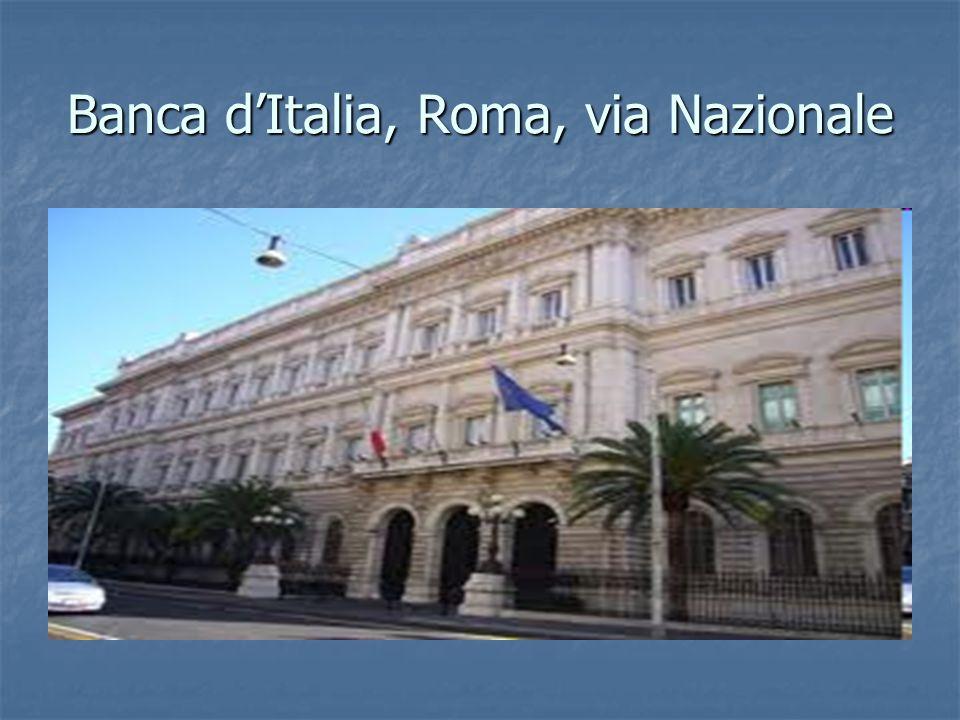 Banca d'Italia, Roma, via Nazionale