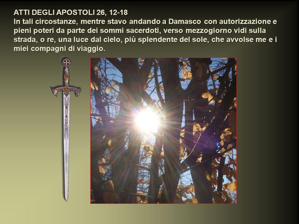 E io dissi: Signore, essi sanno che facevo imprigionare e percuotere nella sinagoga quelli che credevano in te; quando si versava il sangue di Stefano