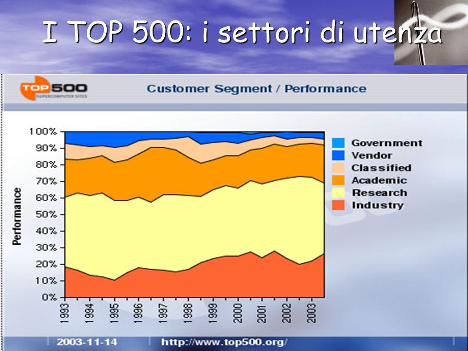 I TOP 500: i settori di utenza