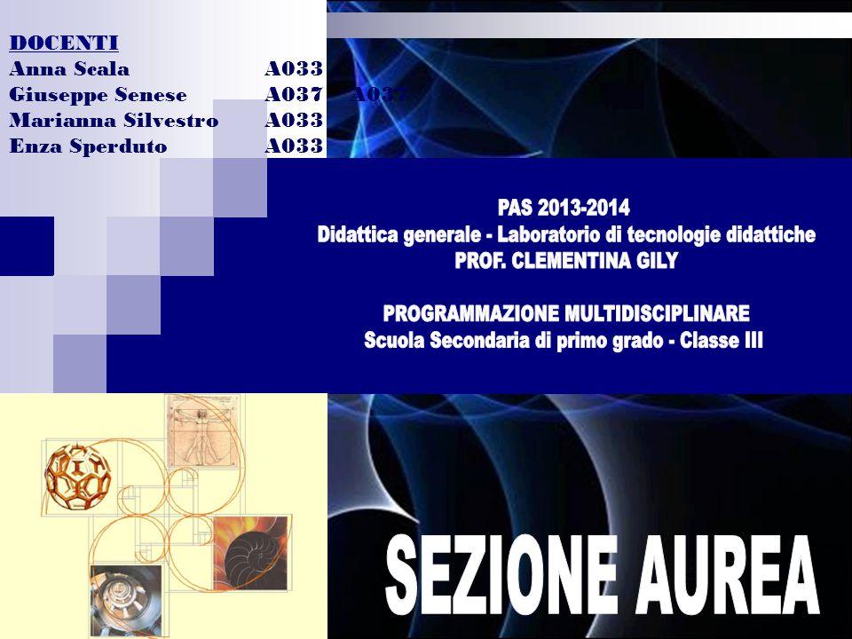DOCENTI Anna ScalaA033 Giuseppe SeneseA037A037 Marianna SilvestroA033 Enza SperdutoA033