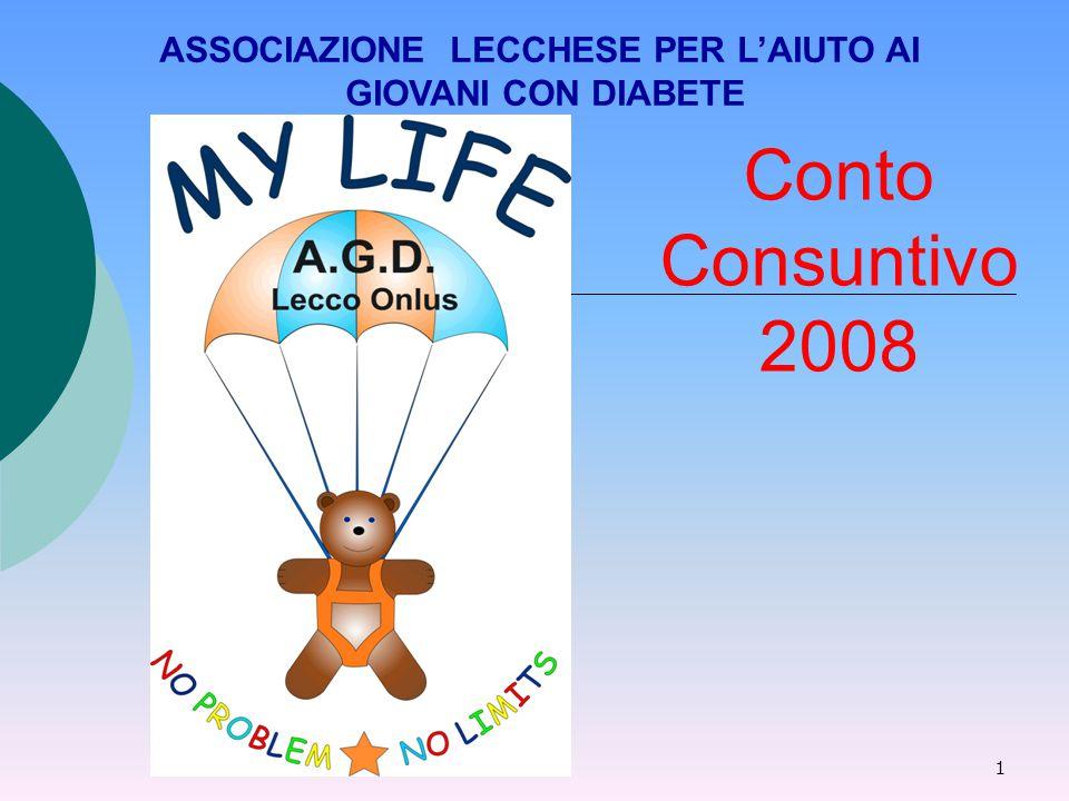 1 Conto Consuntivo 2008 ASSOCIAZIONE LECCHESE PER L'AIUTO AI GIOVANI CON DIABETE
