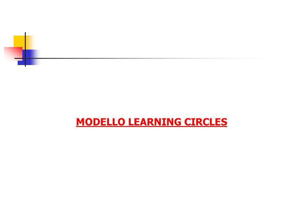 MODELLO LEARNING CIRCLES