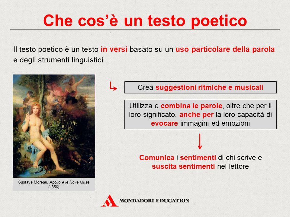 Che cos'è un testo poetico Il testo poetico è un testo in versi basato su un uso particolare della parola e degli strumenti linguistici Comunica i sen