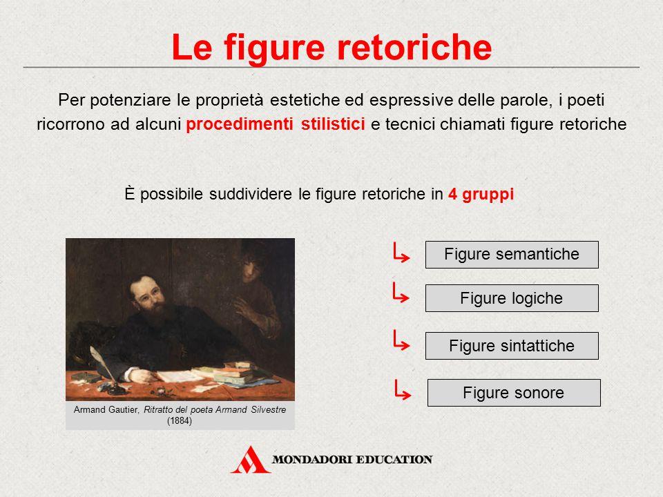 Le figure retoriche Per potenziare le proprietà estetiche ed espressive delle parole, i poeti ricorrono ad alcuni procedimenti stilistici e tecnici ch