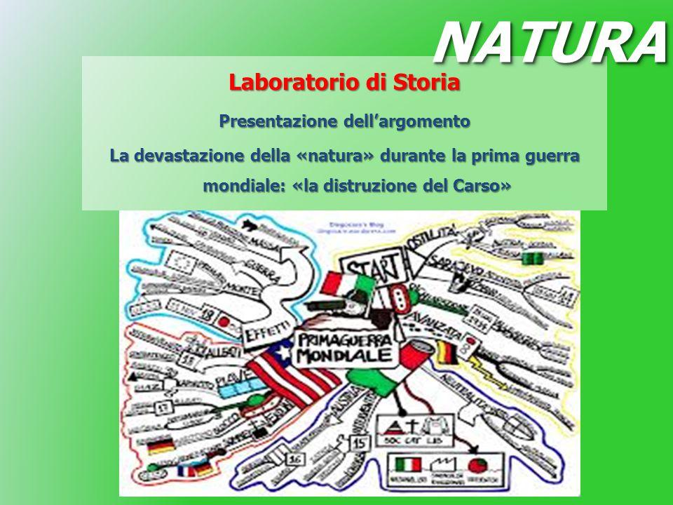 Laboratorio di Storia Presentazione dell'argomento La devastazione della «natura» durante la prima guerra mondiale: «la distruzione del Carso» NATURAN