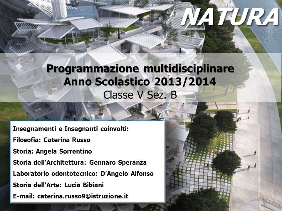Programmazione multidisciplinare Programmazione multidisciplinare Anno Scolastico 2013/2014 Classe V Sez. B Insegnamenti e Insegnanti coinvolti: Filos