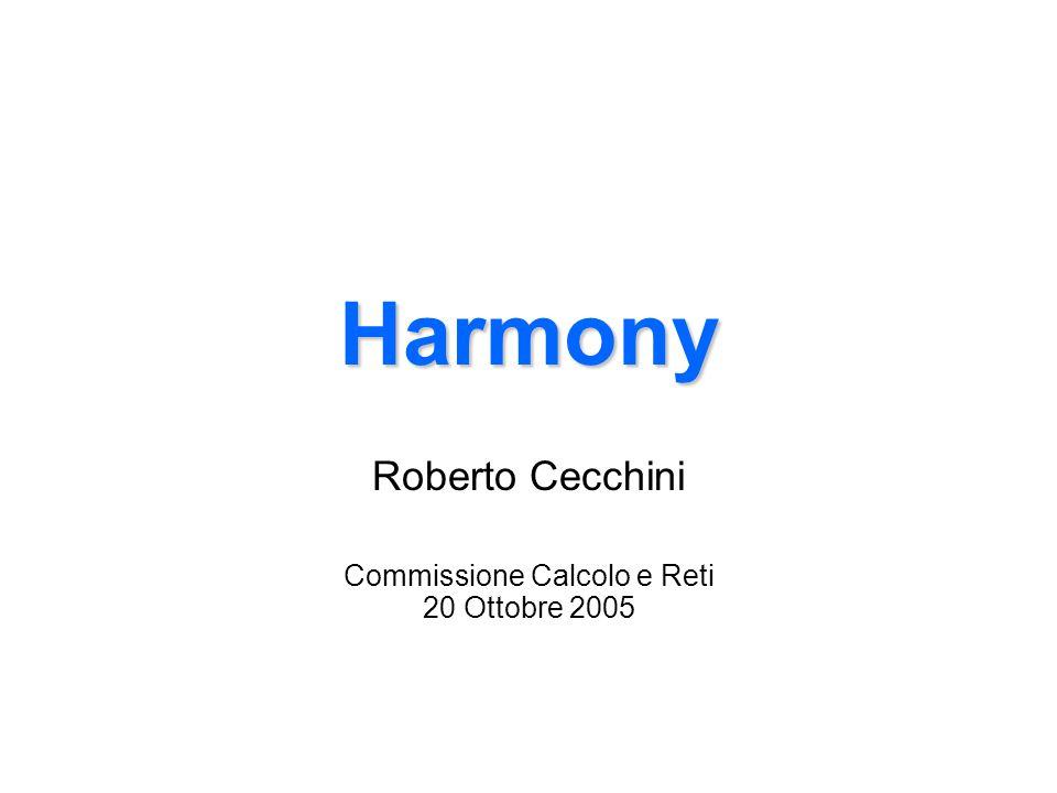 Harmony Roberto Cecchini Commissione Calcolo e Reti 20 Ottobre 2005