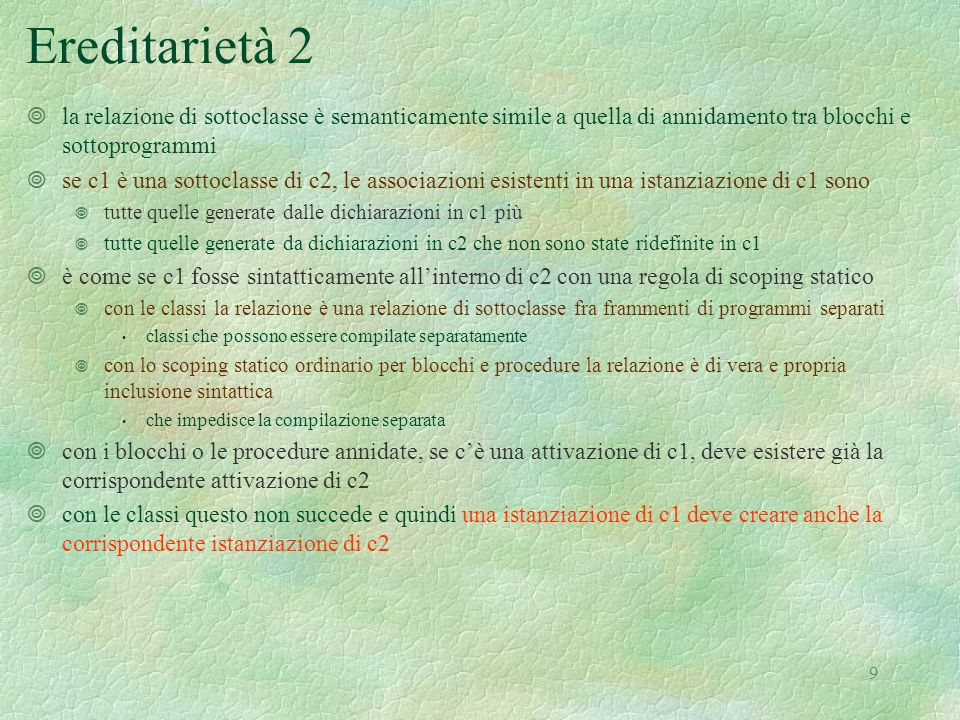 20 Semantica delle espressioni 2 | Ifthenelse(a,b,c) -> let (g, s1, h1) = sem(a, r, s, h) in if typecheck( bool ,g) then (if g = Bool(true) then sem(b, r, s, h1) else sem(c, r, s, h1)) else failwith ( nonboolean guard ) | Val(e) -> let (v, s1, h1) = semden(e, r, s, h) in (match v with | Dloc n -> mvaltoeval(applystore(s1, n)), s1, h1 | _ -> failwith( not a variable ) | Let(i,e1,e2) -> let (v, s1, h1) = semden(e1, r, s, h) in sem(e2, bind (r,i, v), s1, h1) | Fun(i,e1) -> dvaltoeval(makefun(e,r)), s, h | Rec(i,e1) -> makefunrec(i, e1, r), s, h | Appl(a,b) -> let (v1, s1, h1) = semlist(b, r, s, h) in let (v2, s2, h2) = sem(a, r, s, h1) in applyfun(evaltodval v2, v1, s2, h2) | New(i,ge) -> let (v, s1, h1) = semlist(ge, r, s, h) in applyclass(applyenv(r,i), v, s1, h1) | This -> (dvaltoeval(applyenv(r, this )), s, h) | _ -> failwith ( nonlegal expression for sem ) val sem : exp * dval env * mval store * heap -> eval * mval store * heap =