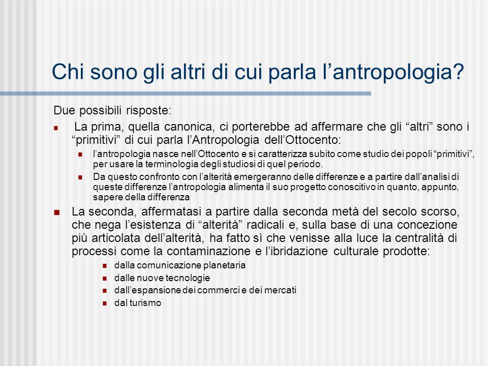 L'antropologia e il concetto di cultura