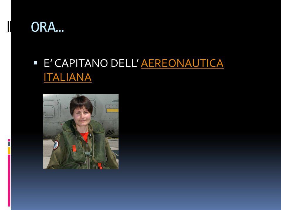 E…  E' STATA SELEZIONATA NEL 2009 DALL'ESA PER SALIRE A BORDO DELLA STAZIONE SPAZIALE INTERNAZIONALE COME PRIMA DONNA ITALIANA http://spaceinimages.esa.int/Images/2012/07/Entrainement