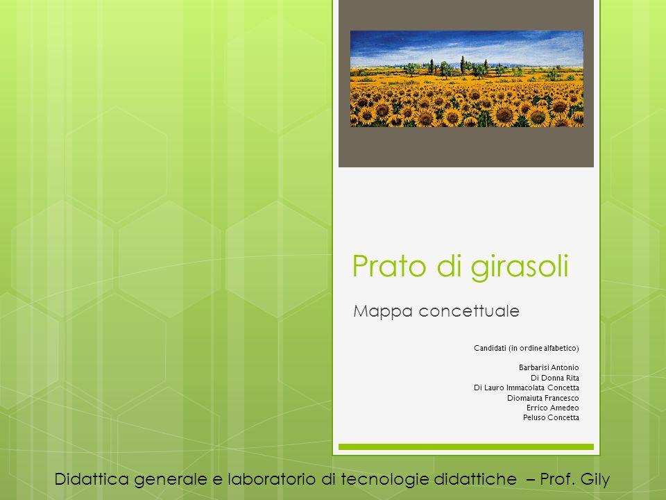 Prato di girasoli Mappa concettuale Didattica generale e laboratorio di tecnologie didattiche – Prof.
