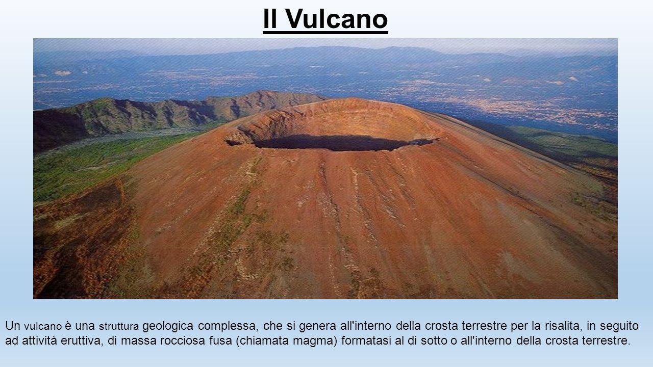 Il Vulcano Un vulcano è una struttura geologica complessa, che si genera all'interno della crosta terrestre per la risalita, in seguito ad attività er