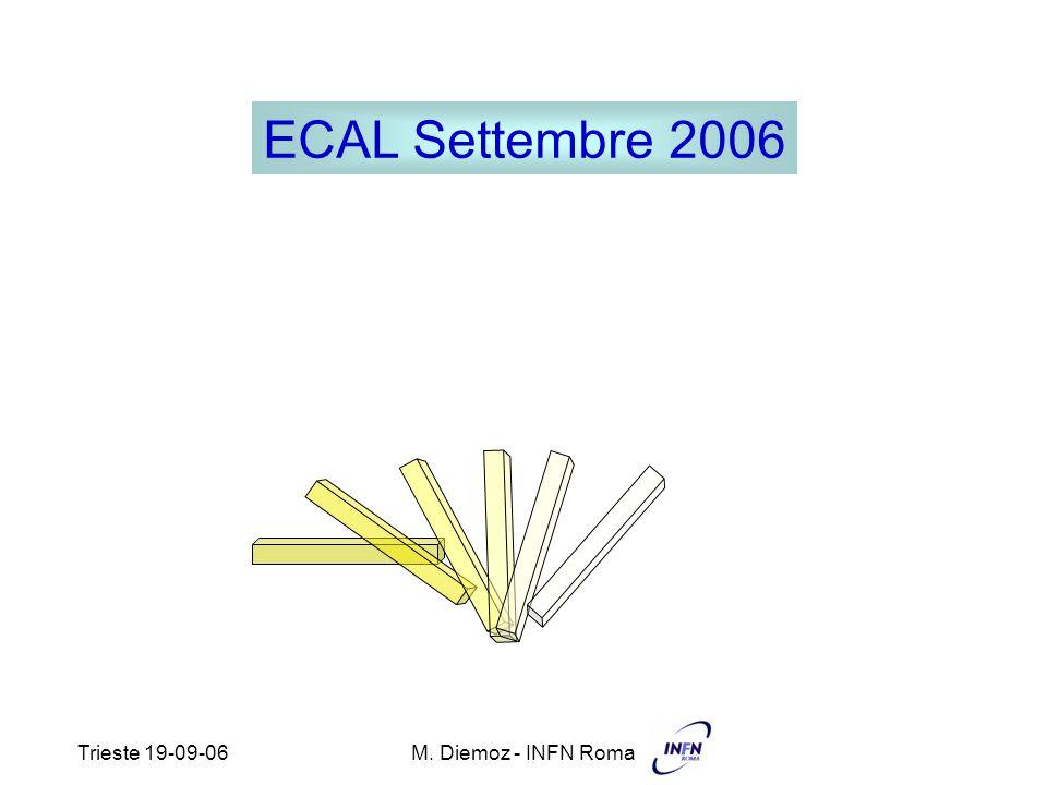 Trieste 19-09-06M. Diemoz - INFN Roma ECAL Settembre 2006