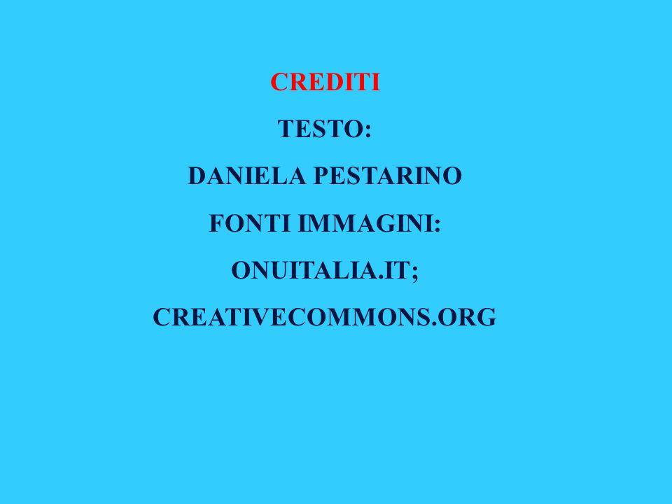 CREDITI TESTO: DANIELA PESTARINO FONTI IMMAGINI: ONUITALIA.IT; CREATIVECOMMONS.ORG