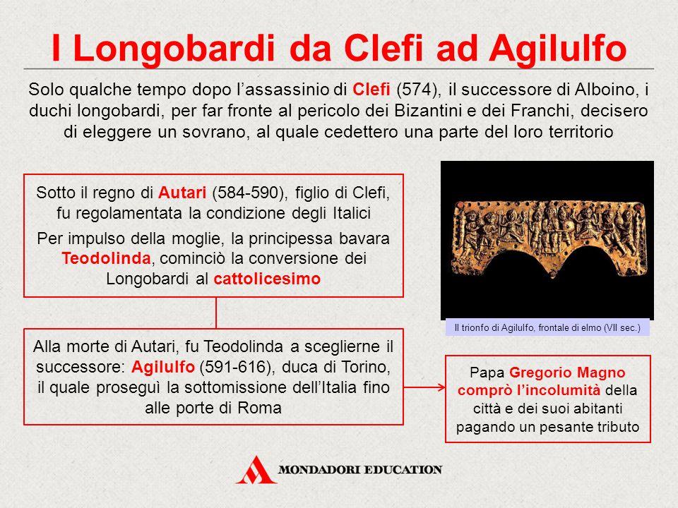 I Longobardi da Clefi ad Agilulfo Solo qualche tempo dopo l'assassinio di Clefi (574), il successore di Alboino, i duchi longobardi, per far fronte al