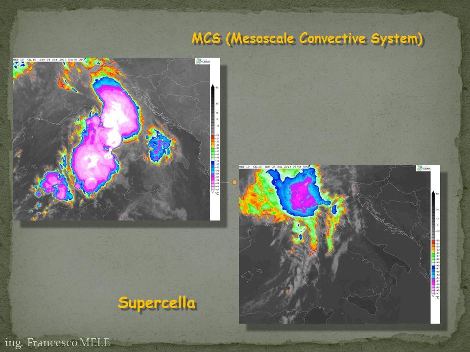 ing. Francesco MELE MCS (Mesoscale Convective System) Supercella