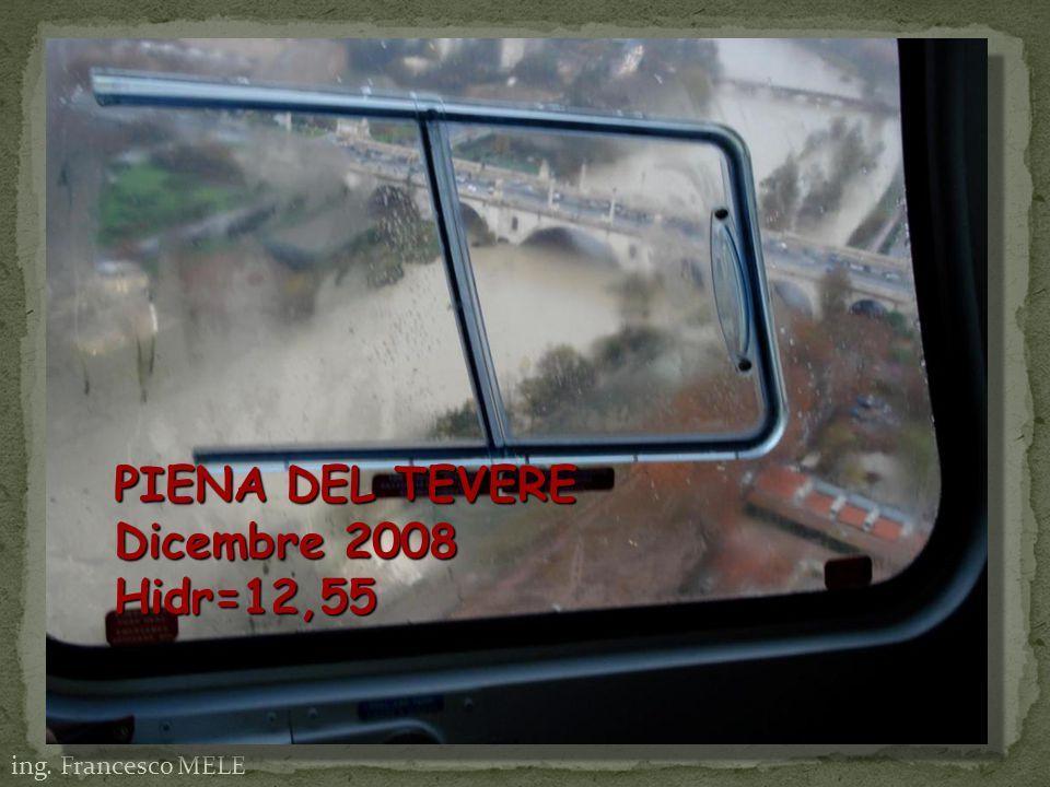 PIENA DEL TEVERE Dicembre 2008 Hidr=12,55