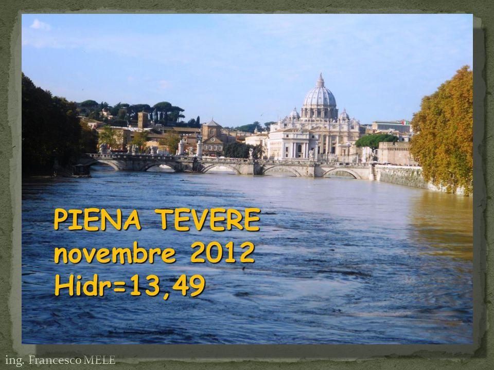 PIENA TEVERE novembre 2012 Hidr=13,49